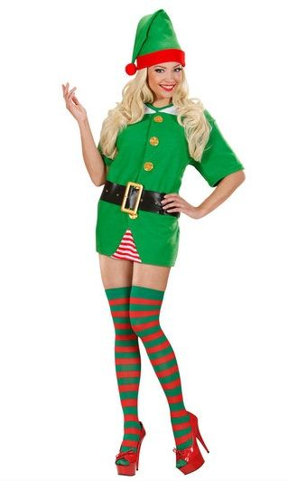 7b5fae5a31bc3 Red/Green striped plus size Elf tights -
